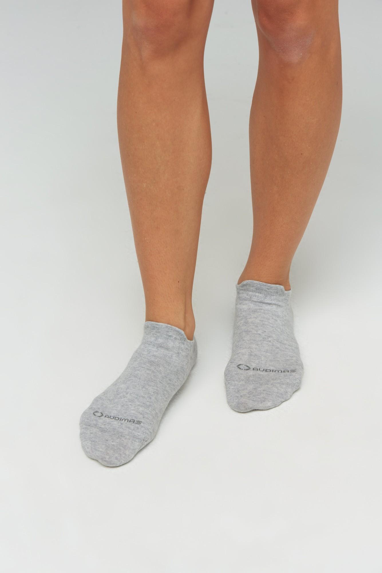 AUDIMAS Trumpos medvilnės pluošto kojinės 1-01-54 White/Grey 41-43