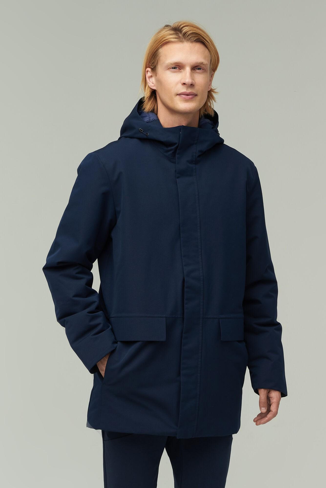 AUDIMAS Ilga apsauganti nuo lietaus parka 2021-454 Navy Blazer XXL