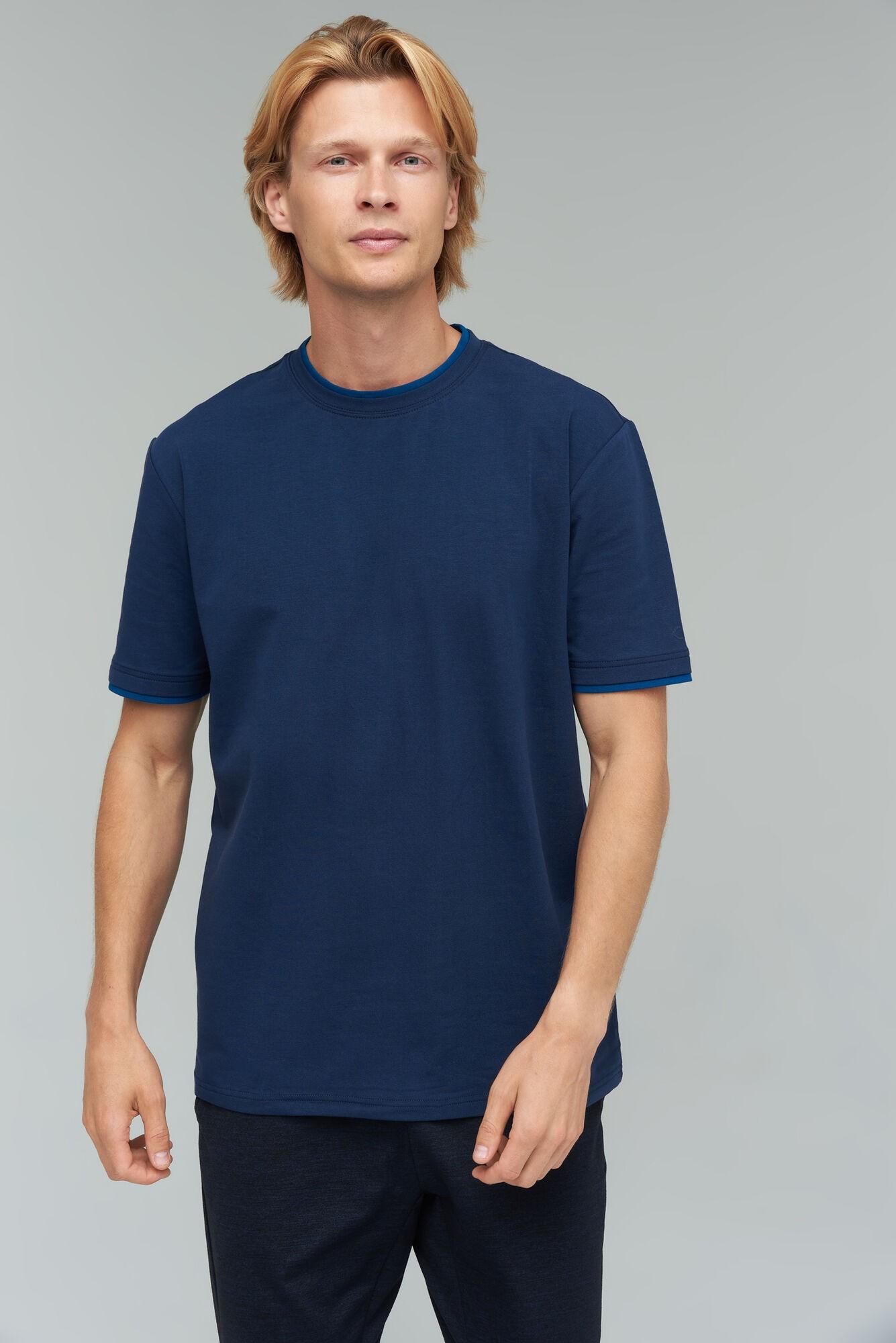 AUDIMAS Tamprūs medvilniniai marškinėliai 2021-642 Navy Blazer XL