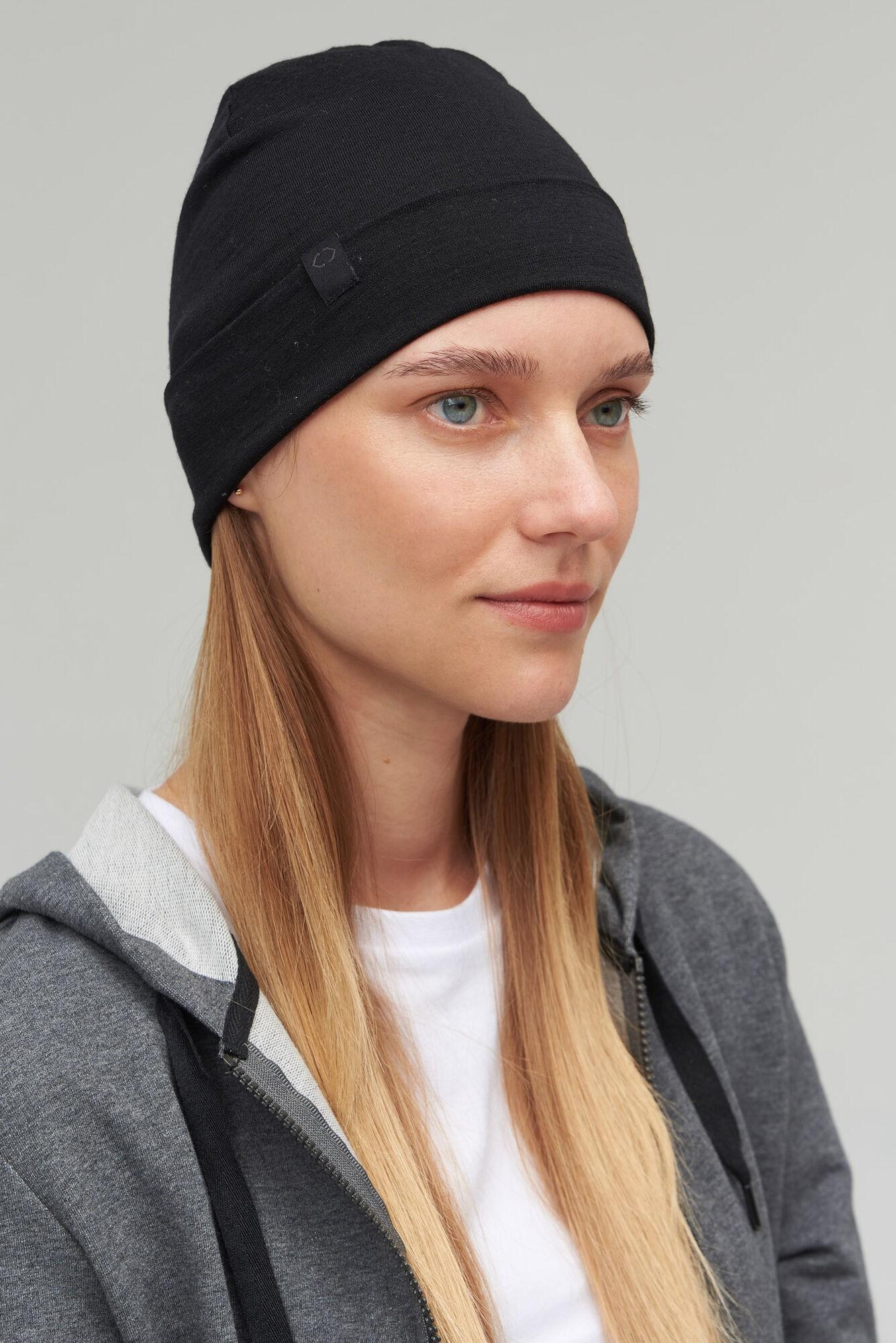 AUDIMAS BEANIE merino vilnos kepurė NOS 1-06-294 Black One Size