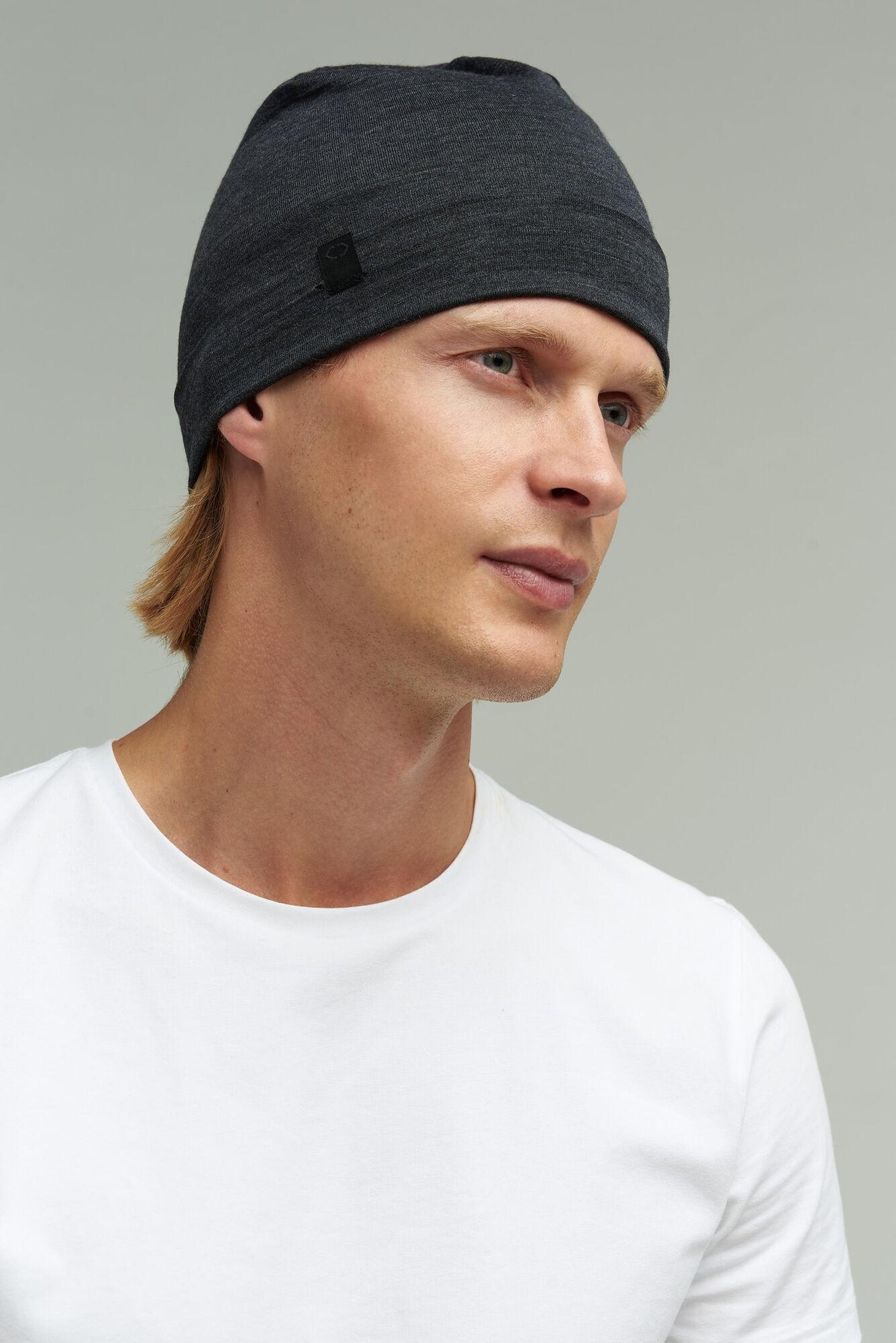 AUDIMAS BEANIE merino vilnos kepurė NOS 1-06-294 Dark Grey Melange One Size