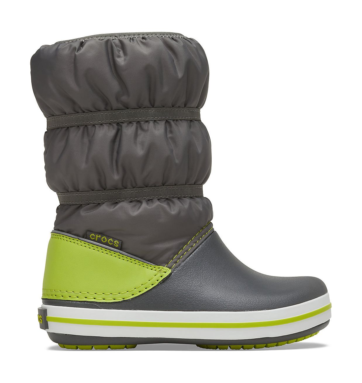 Crocs™ Crocband Winter Boot Kid's Slate Grey/Lime Punch 28
