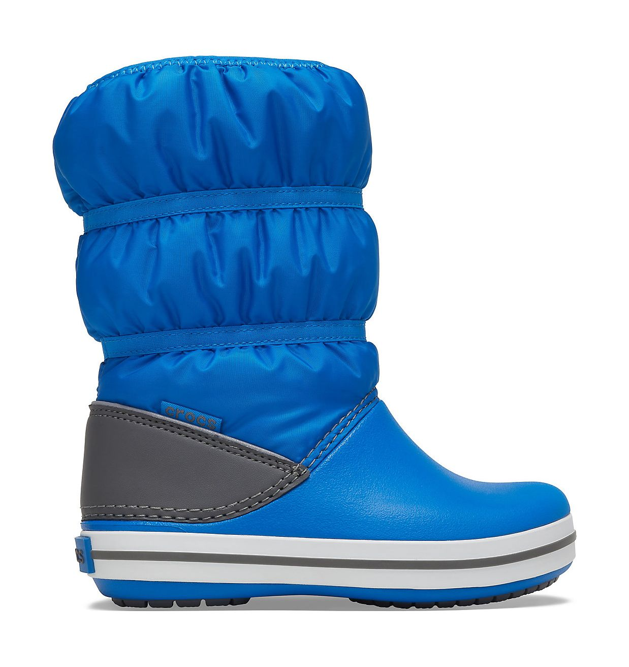 Crocs™ Crocband Winter Boot Kid's Bright Cobalt/Light Grey 24