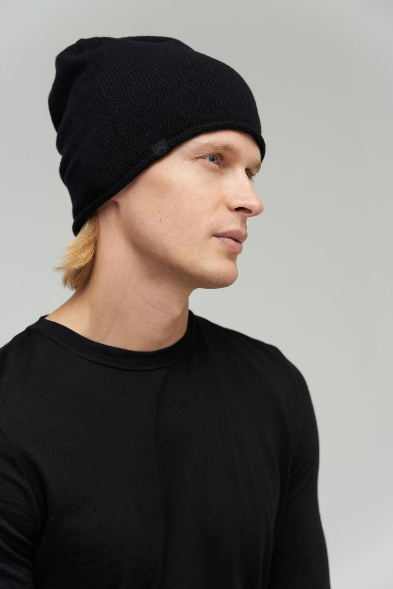 AUDIMAS Megzta merino kepurė su kašmyru 1-06-272 Black One size