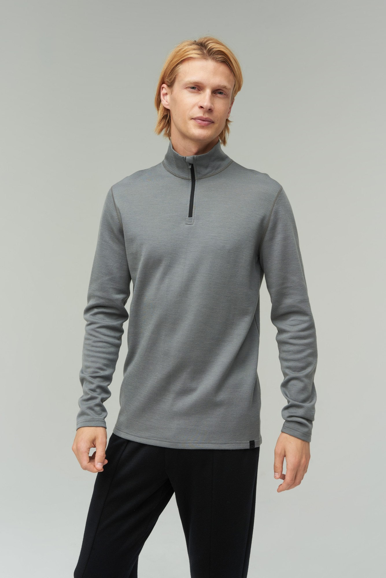 AUDIMAS Prasegamas merino vilnos džemp. 2021-447 Steel Gray S