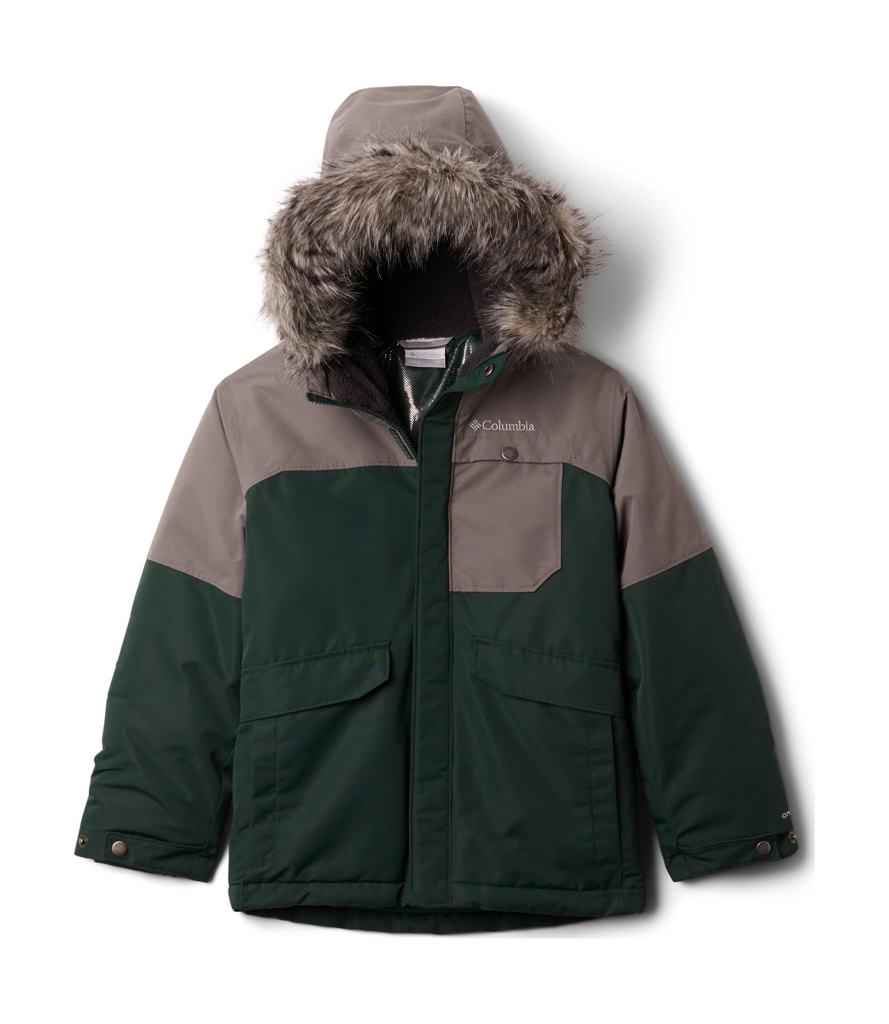 Columbia Nordic Strider Jacket Boys Spruce/City Grey 140