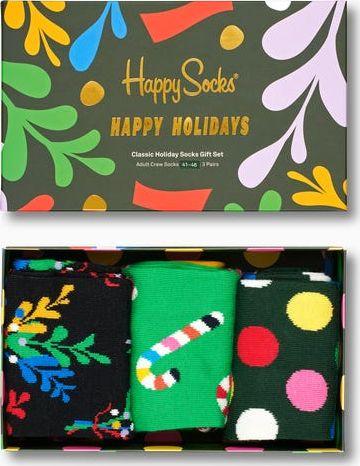 Happy Socks 3-Pack Holiday Socks Gift Set XMST08 Multi 0100 36-40