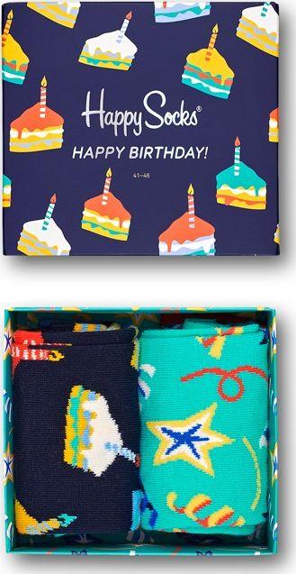 Happy Socks 2-Pack Birthday Cake Socks Gift Set Multi 6500 36-40