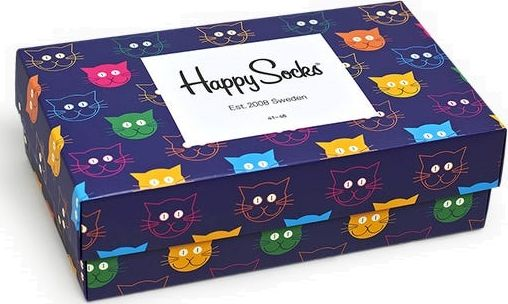 Happy Socks 3-Pack Mixed Cat Socks Gift Set Multi 0100 41-46