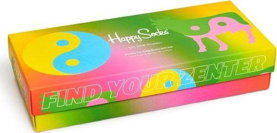Happy Socks 4-Pack Smiley Yin Yang Socks Gift Set Multi 0100 36-40