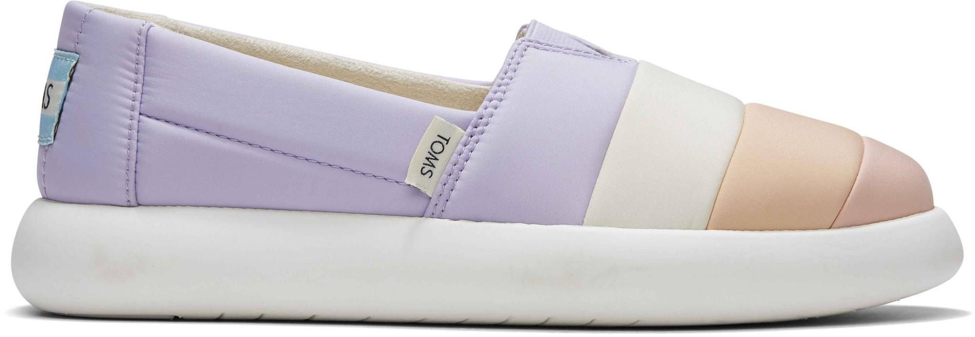 TOMS Matte Woven Women's Alpargata Mallow Slip-On Lavender Multi 37