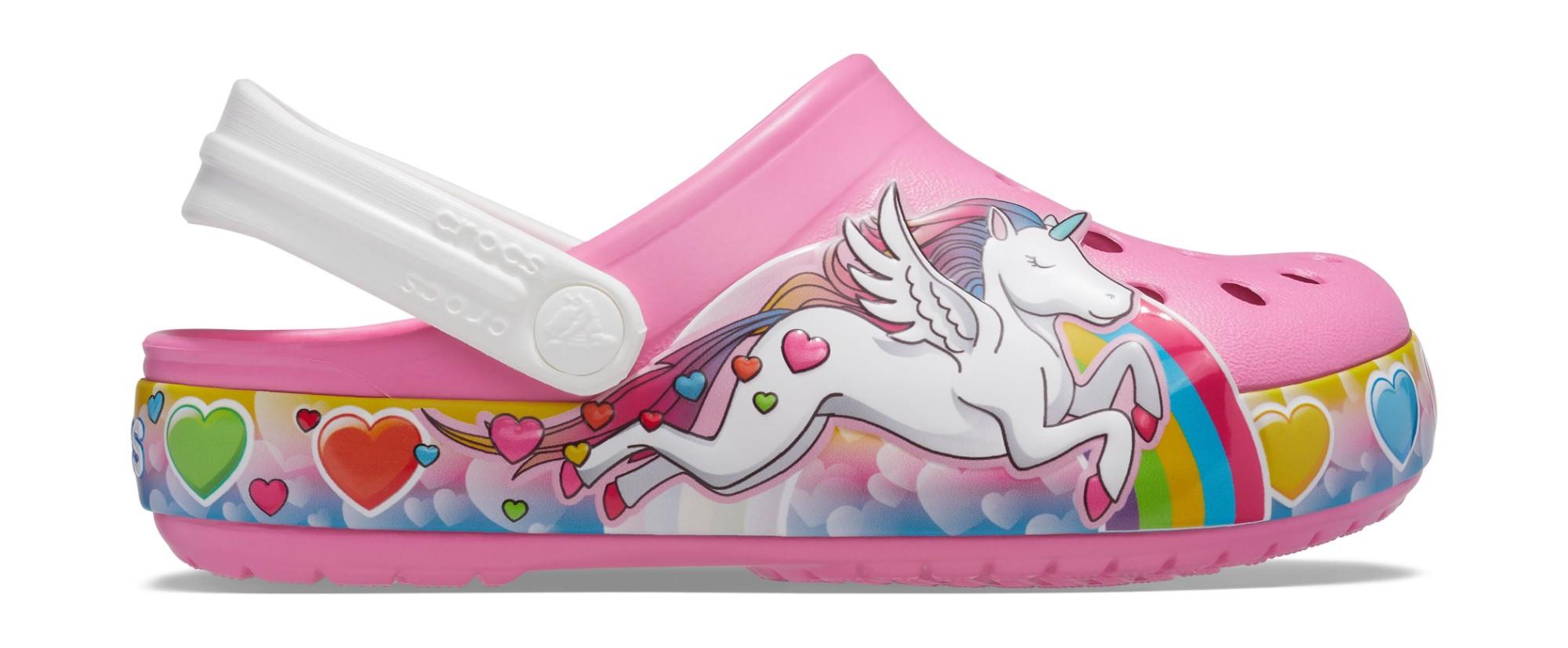 Crocs™ FunLab Unicorn Lights Clog Kid's Pink Lemonade 24