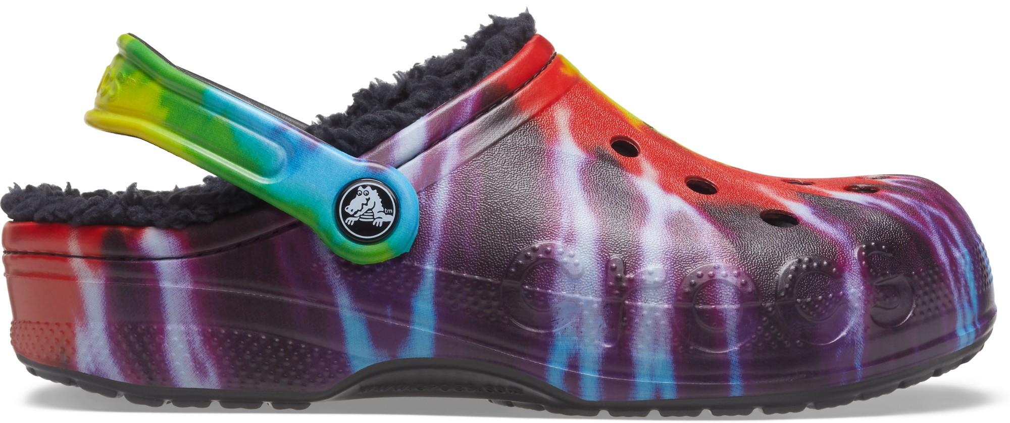 Crocs™ Baya Lined Tie Dye Graphic Clog Multi/Black 41
