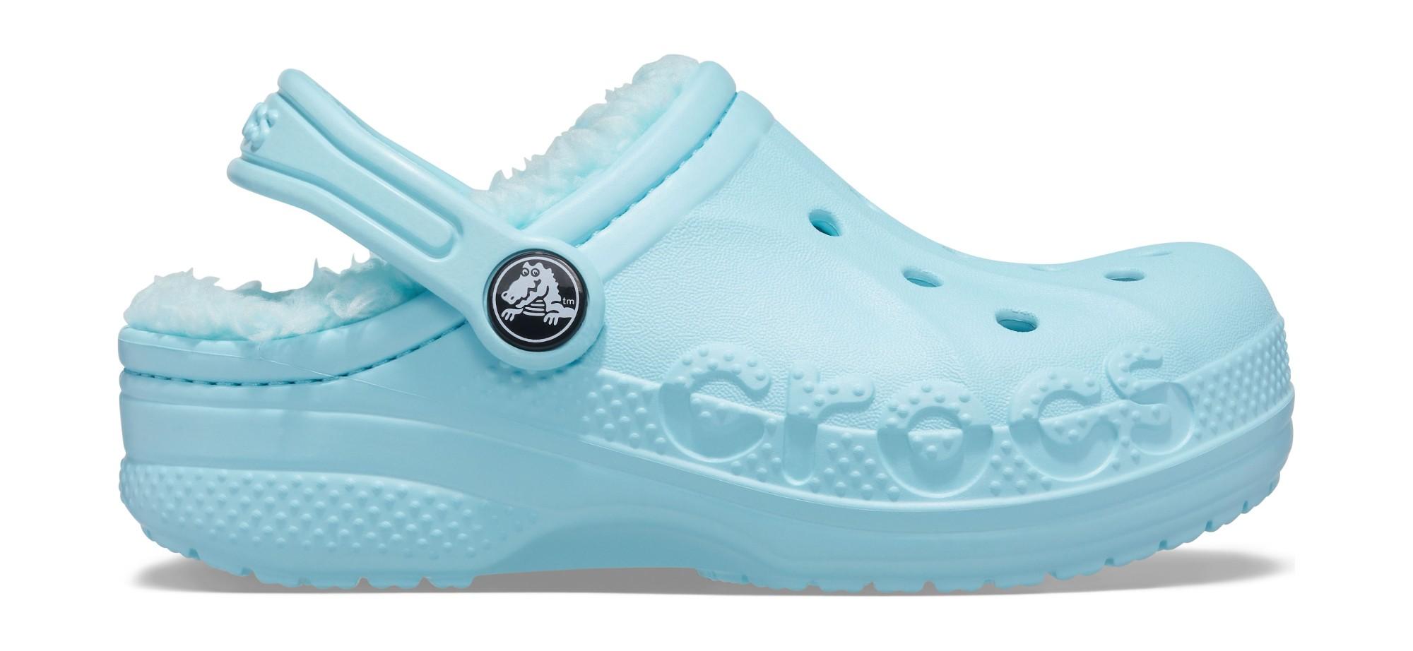 Crocs™ Baya Lined Clog Kid's Ice Blue 35