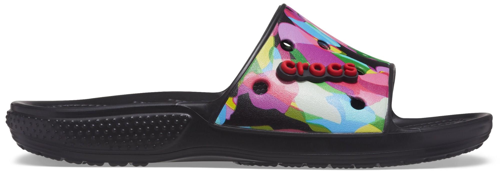 Crocs™ Classic Bubble Block Slide Black/Multi 36,5