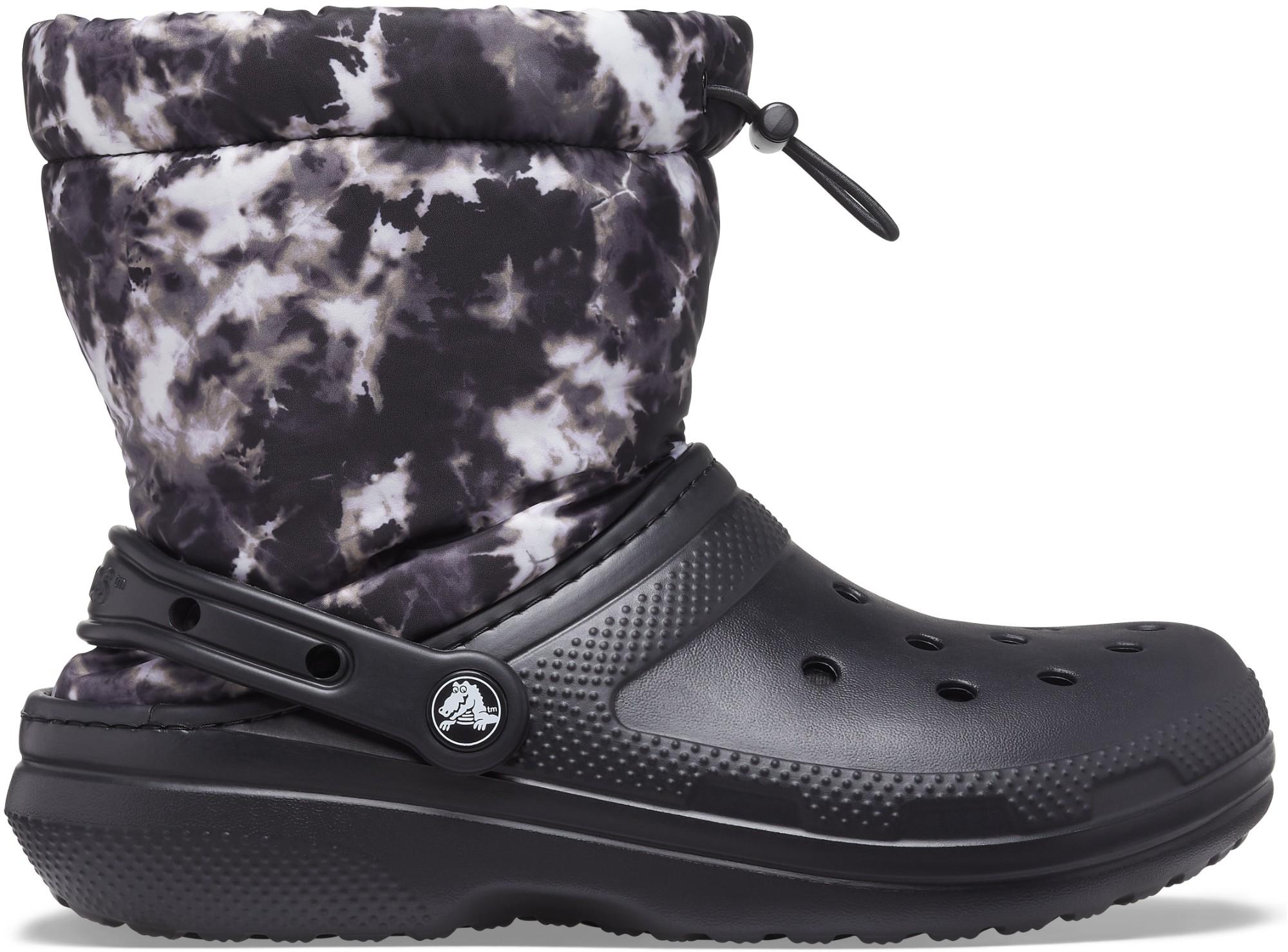 Crocs™ Classic Lined Neo Puff Tie Dye Boot Black 38,5