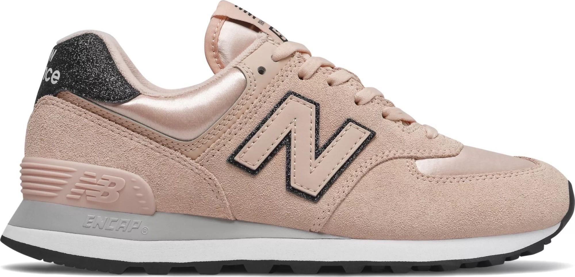 New Balance WL574 Nubuck Pink/Glittered 40,5