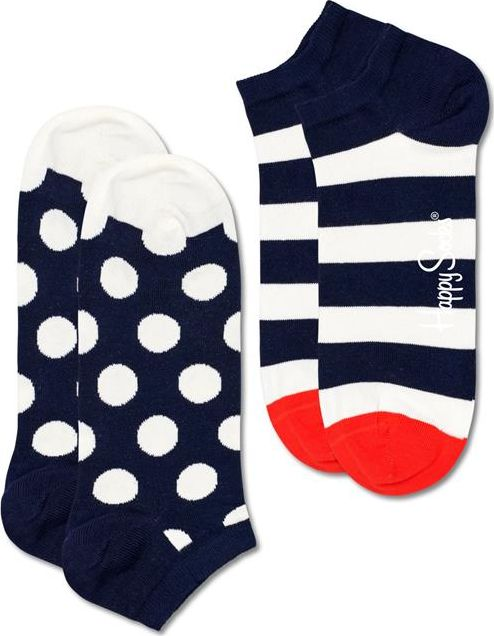 Happy Socks 2-Pack Big Dot Stripe Low Sock Multi 6500 36-40