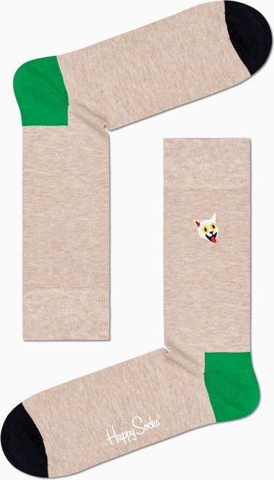 Happy Socks Embroidery Cat Sock Multi 1700 36-40