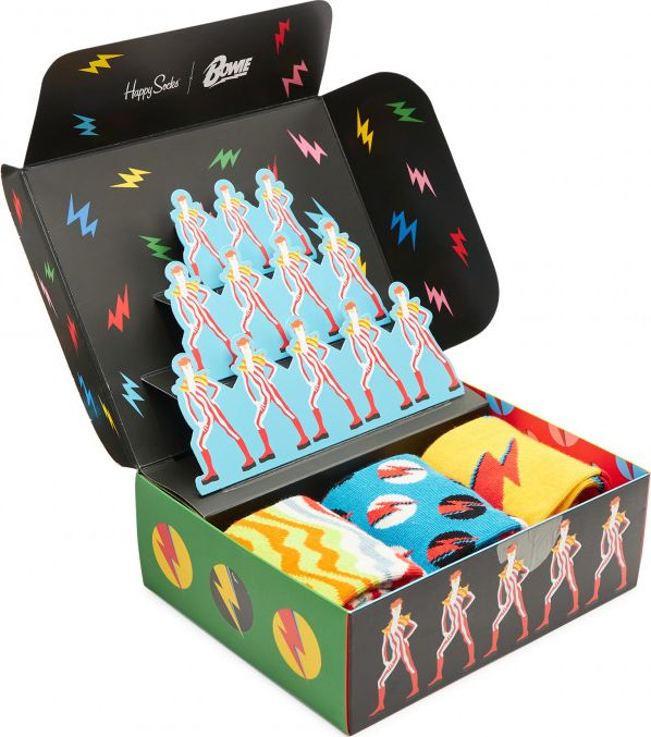 Happy Socks 3-Pack Bowie Gift Set Multi 4300 41-46