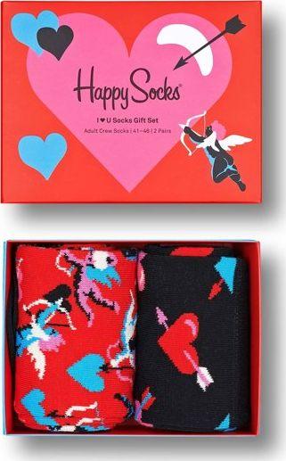 Happy Socks 2-Pack I Love You Socks Gift Set Multi 4300 36-40
