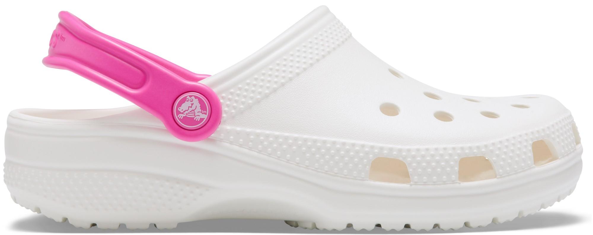 Crocs™ Classic Pop Strap Clog White/Electric Pink 39,5