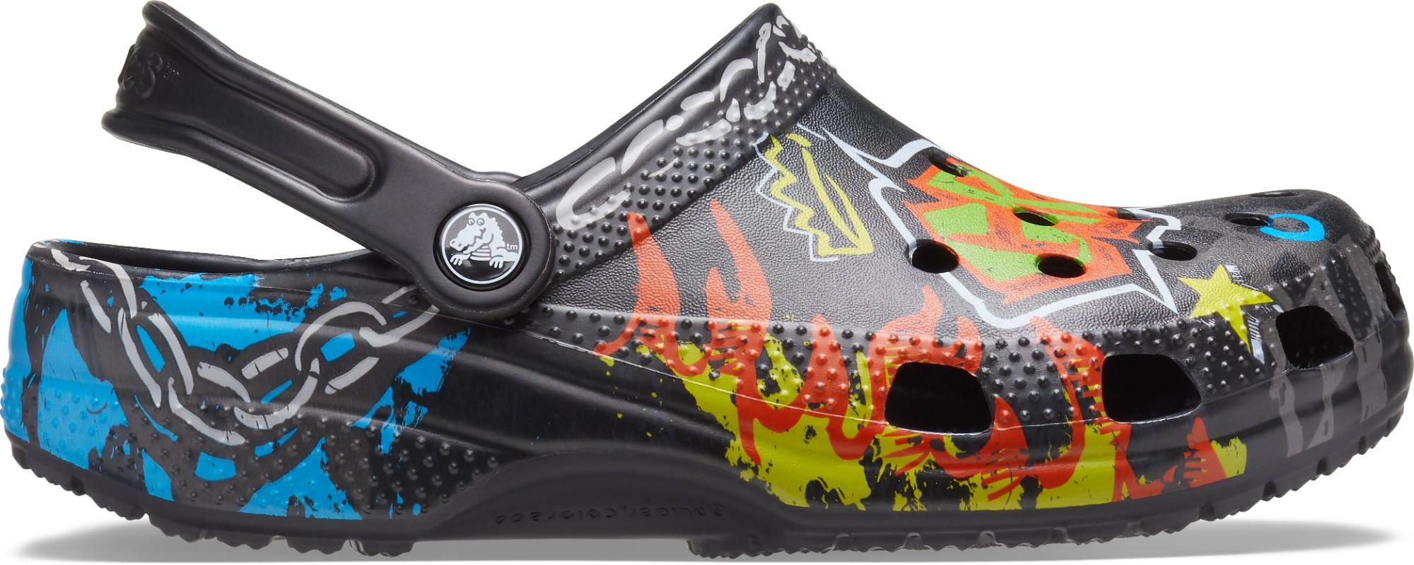 Crocs™ Classic Graffiti Clog Black 39,5