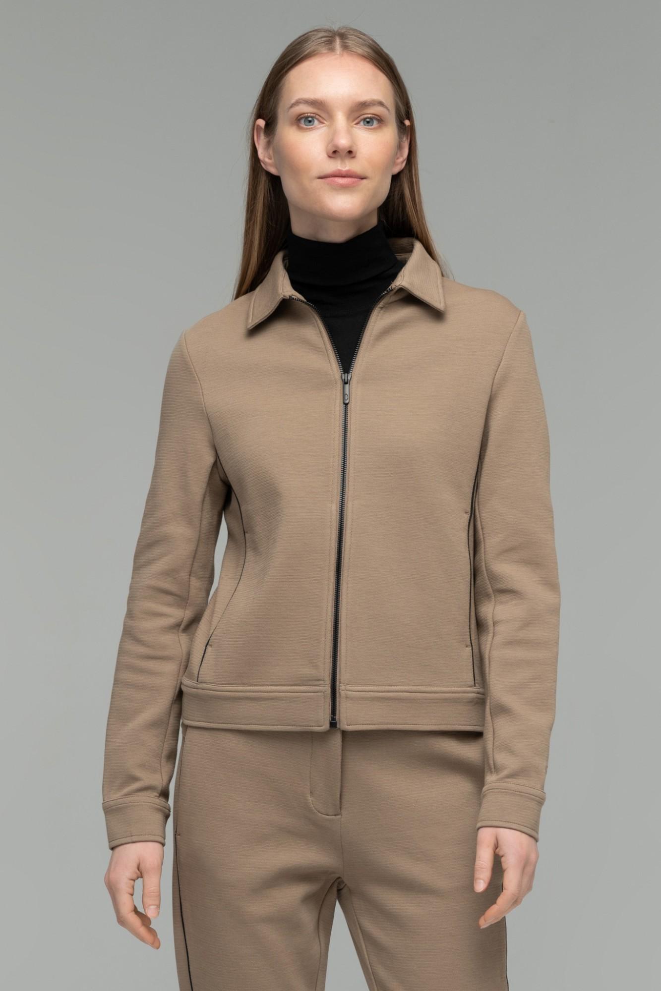 AUDIMAS Atsegamas medvilninis džemperis 2021-057 Pine Bark XS