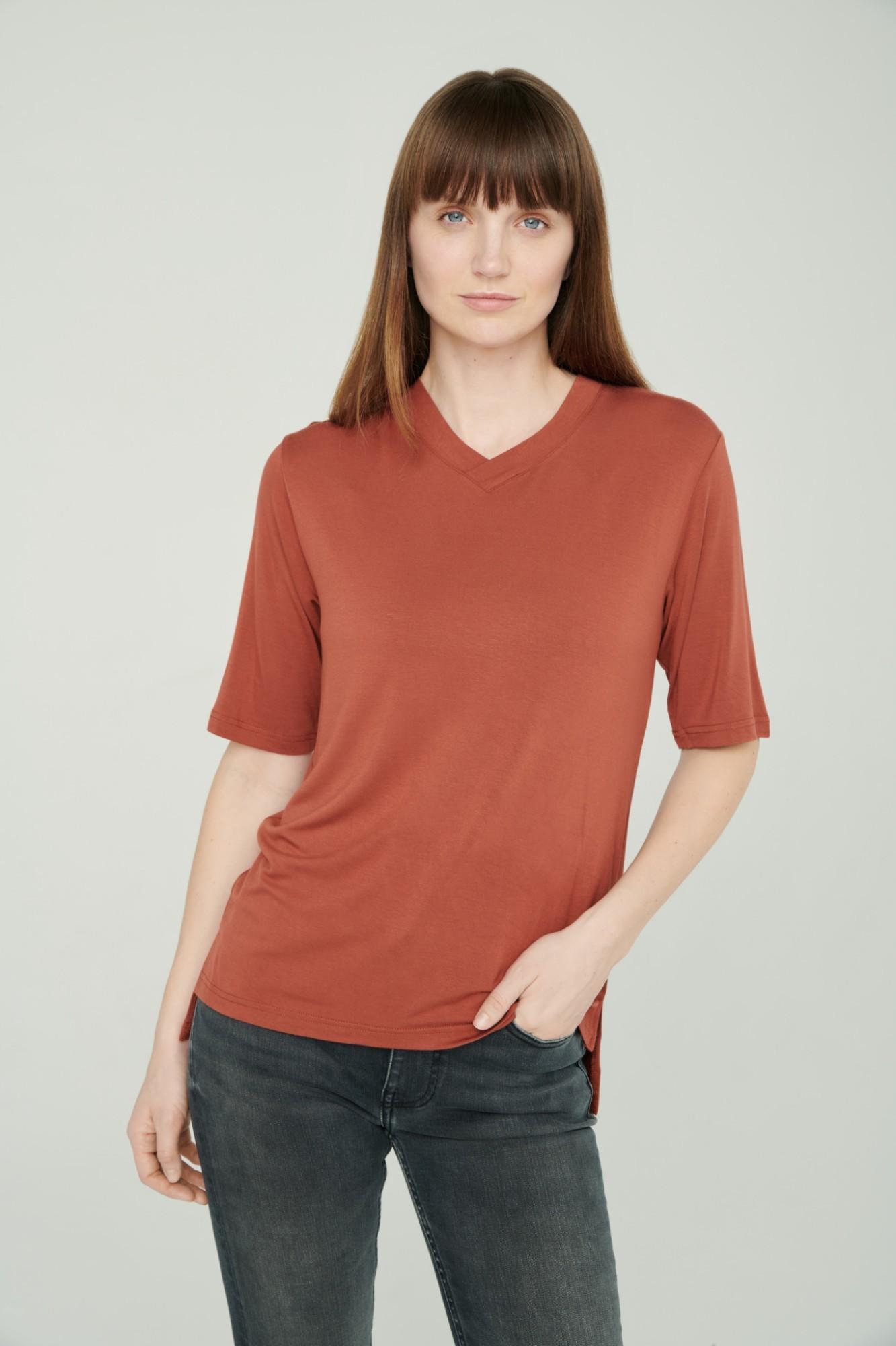 AUDIMAS Lengvi švelnūs marškinėliai 2111-071 Auburn M