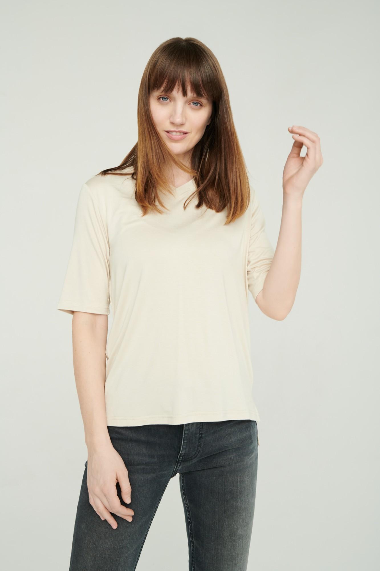 AUDIMAS Lengvi švelnūs marškinėliai 2111-071 White Swan XS