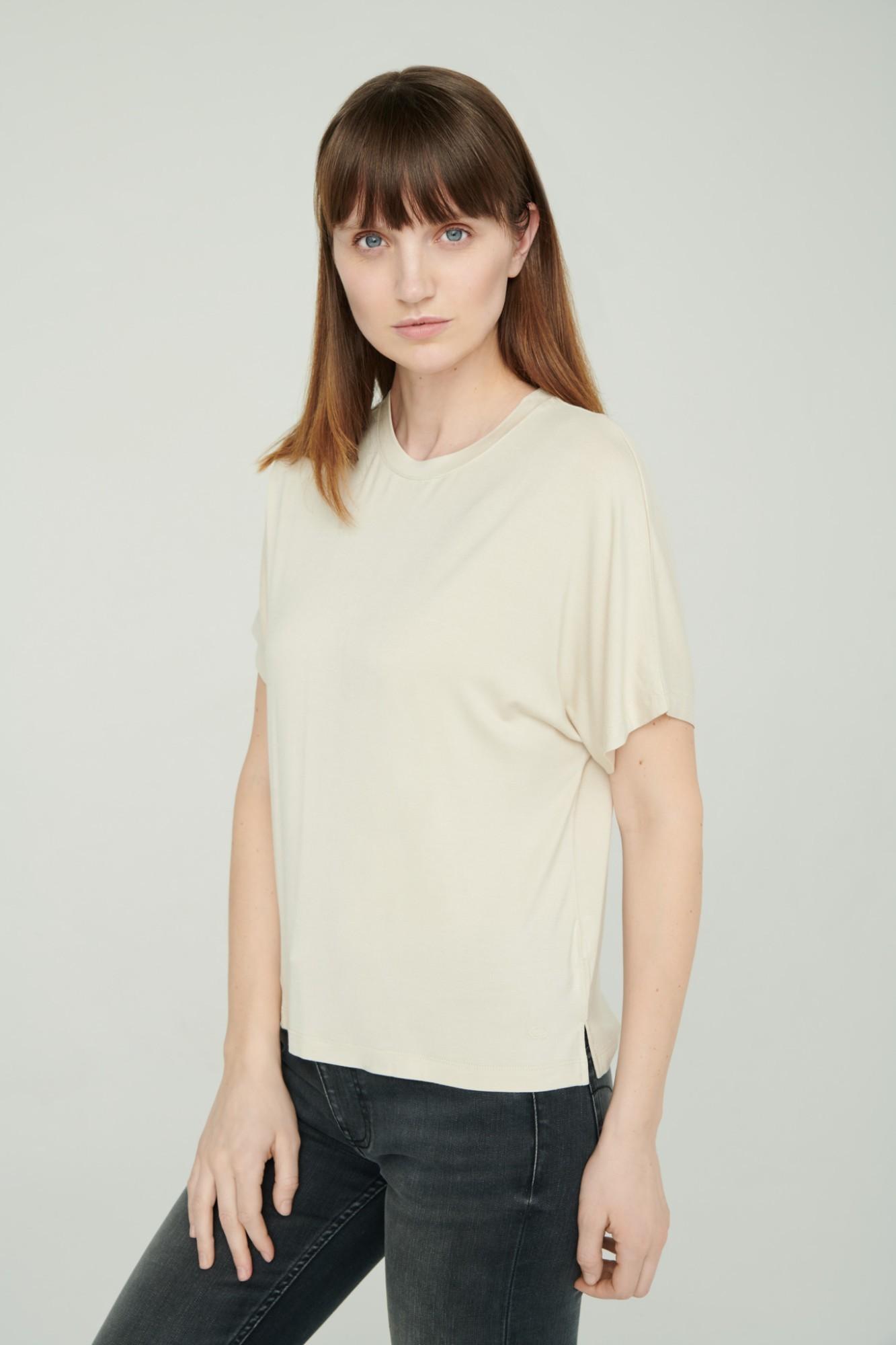 AUDIMAS Lengvi švelnūs marškinėliai 2111-074 White Swan S