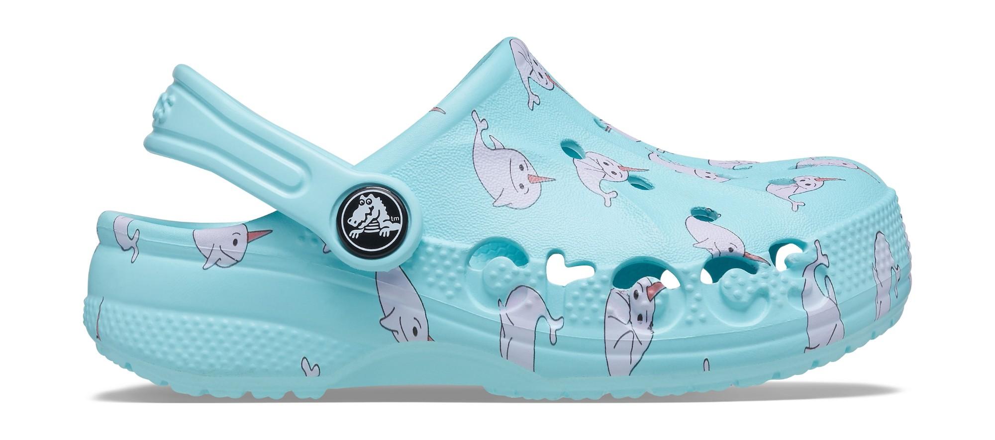 Crocs™ Baya Graphic Clog Ice Blue 29