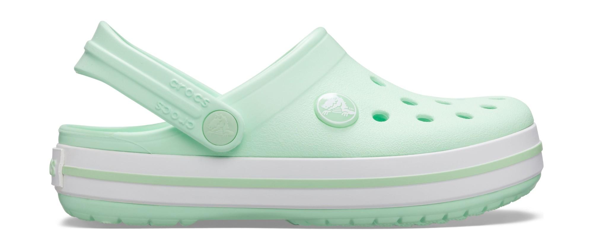 Crocs™ Kids' Crocband Clog Neo Mint 27