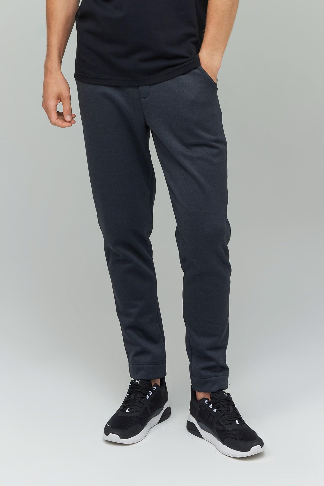 AUDIMAS Tiesaus sil. šiltos fliso kelnės 2021-415 Black Melange 192/L