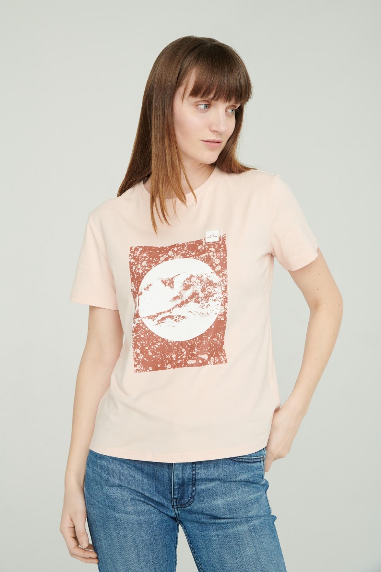 AUDIMAS Marginti medvilniniai marškinėl. 2111-077 Chintz Rose L