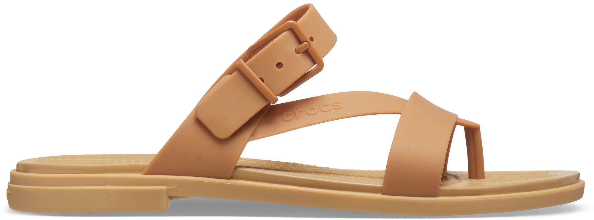 Crocs™ Tulum Toe Post Sandal Womens Dark Gold 39,5