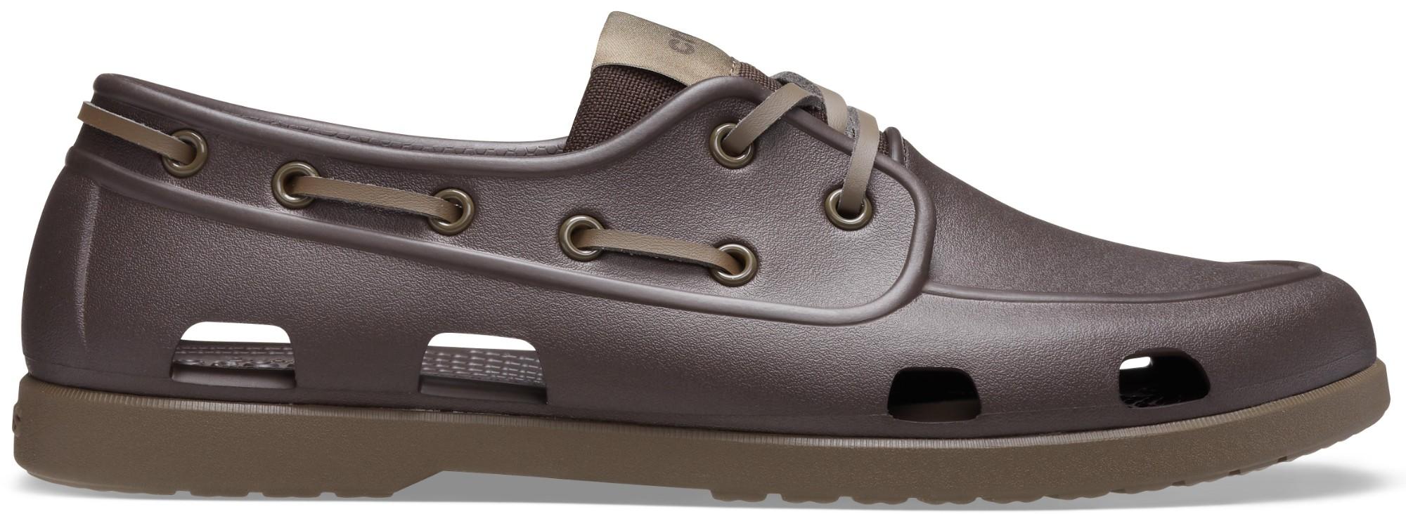 Crocs™ Classic Boat Shoe Mens Espresso/Walnut 44,5