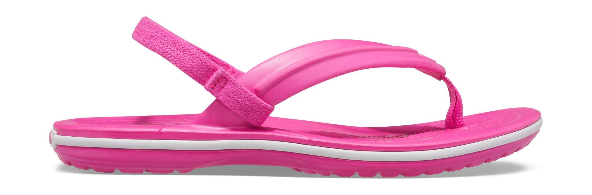 Crocs™ Crocband Strap Flip Kid's Electric Pink 25