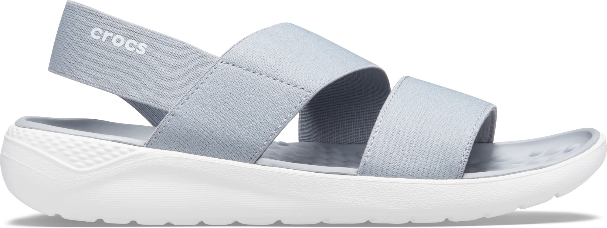 Crocs™ Literide Stretch Sandal Womens Light Grey/White 35
