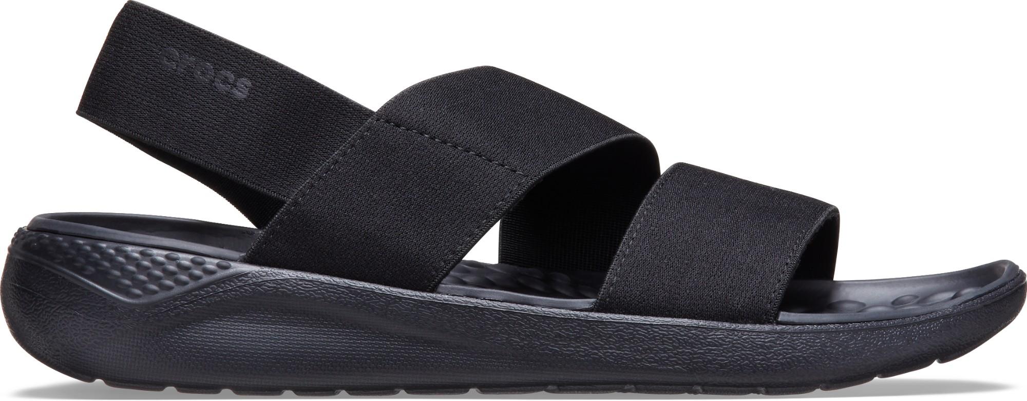Crocs™ Literide Stretch Sandal Womens Black/Black 37,5