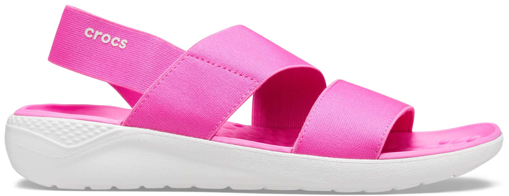 Crocs™ Literide Stretch Sandal Womens Electric Pink/Almost White 35