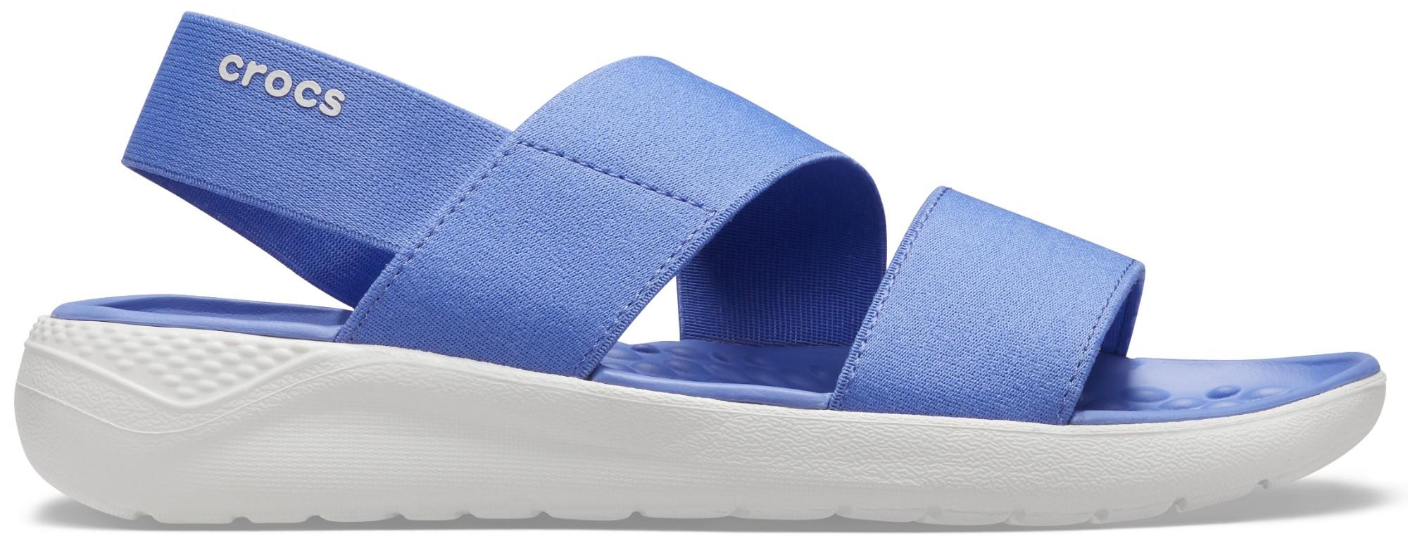 Crocs™ Literide Stretch Sandal Womens Lapis/White 35