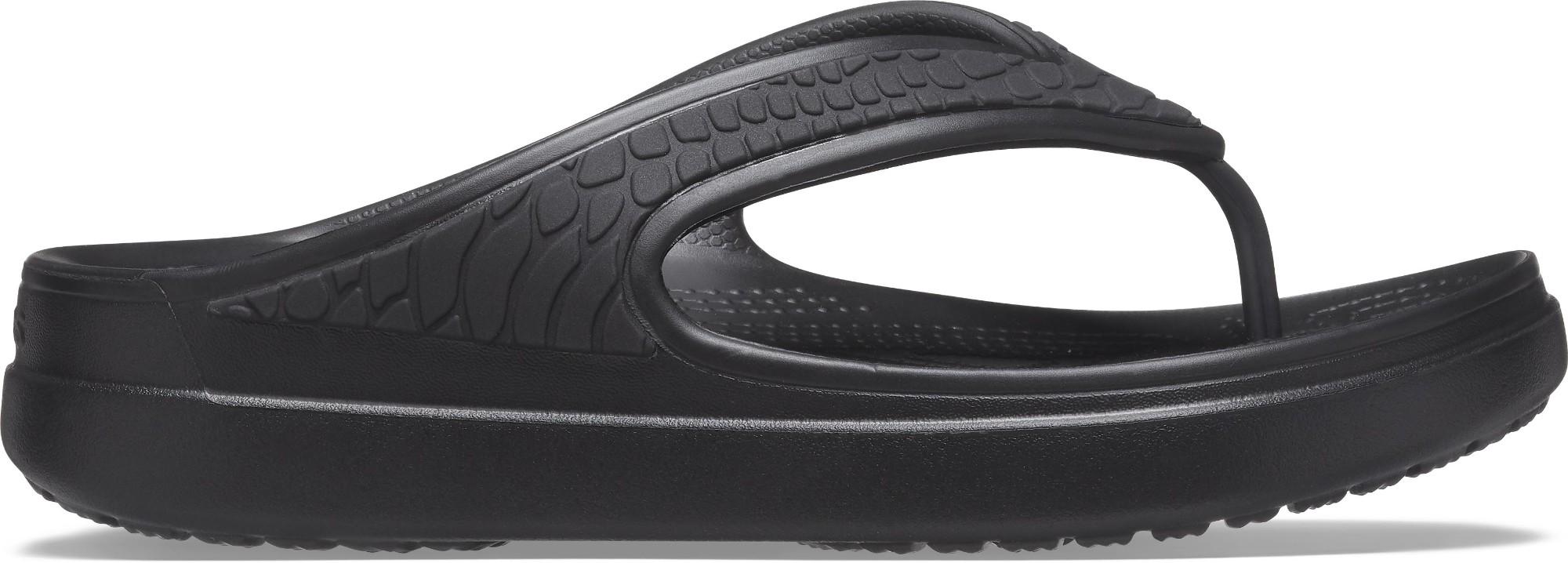 Crocs™ Sloane Snake Wedge Flip Black 41