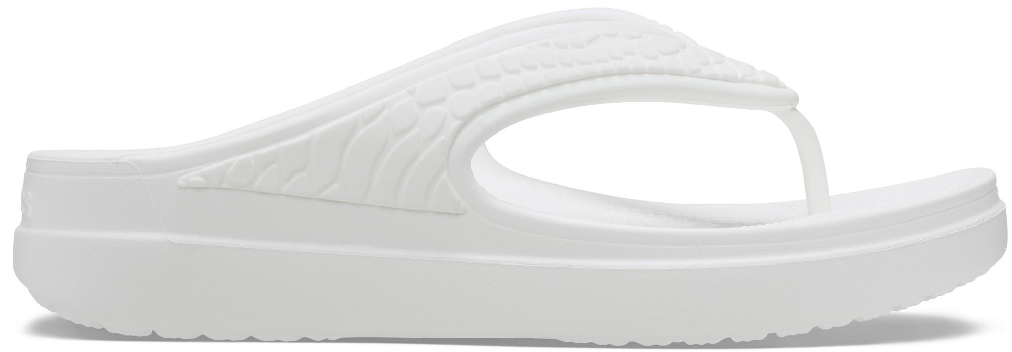 Crocs™ Sloane Snake Wedge Flip White 36,5