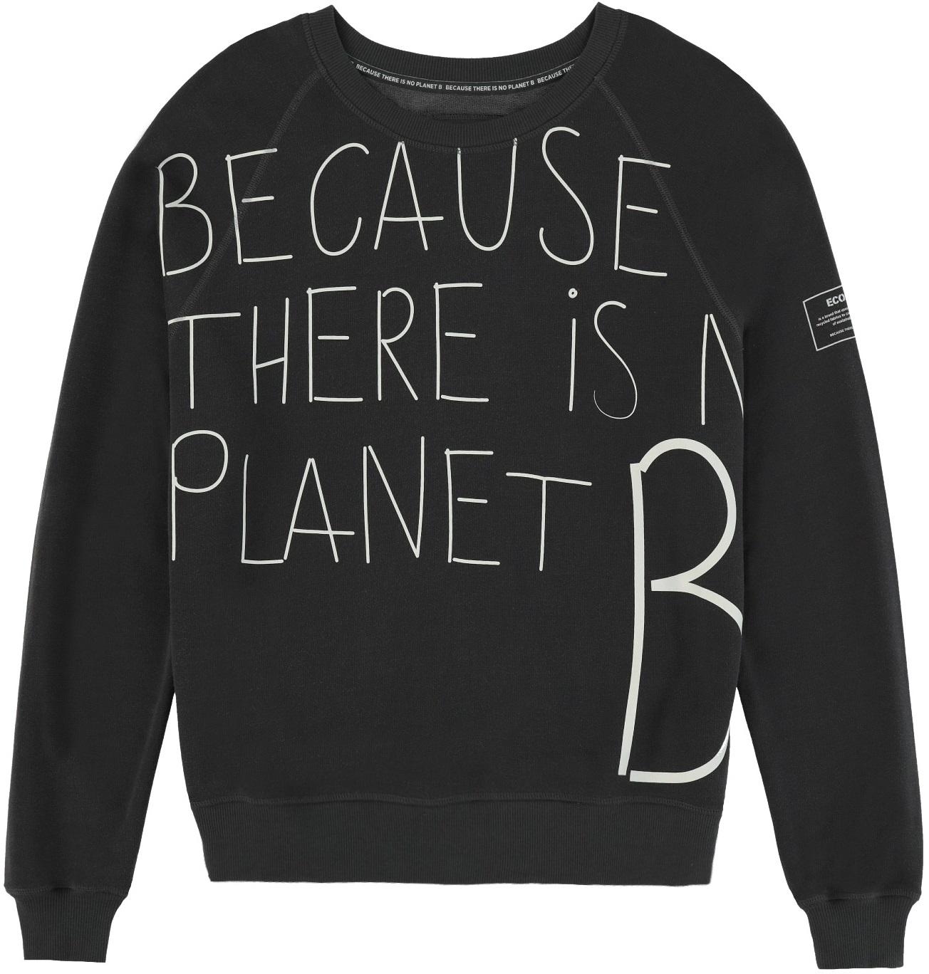 ECOALF Because Handwritten Sweatshirt Women's Asphalt XL