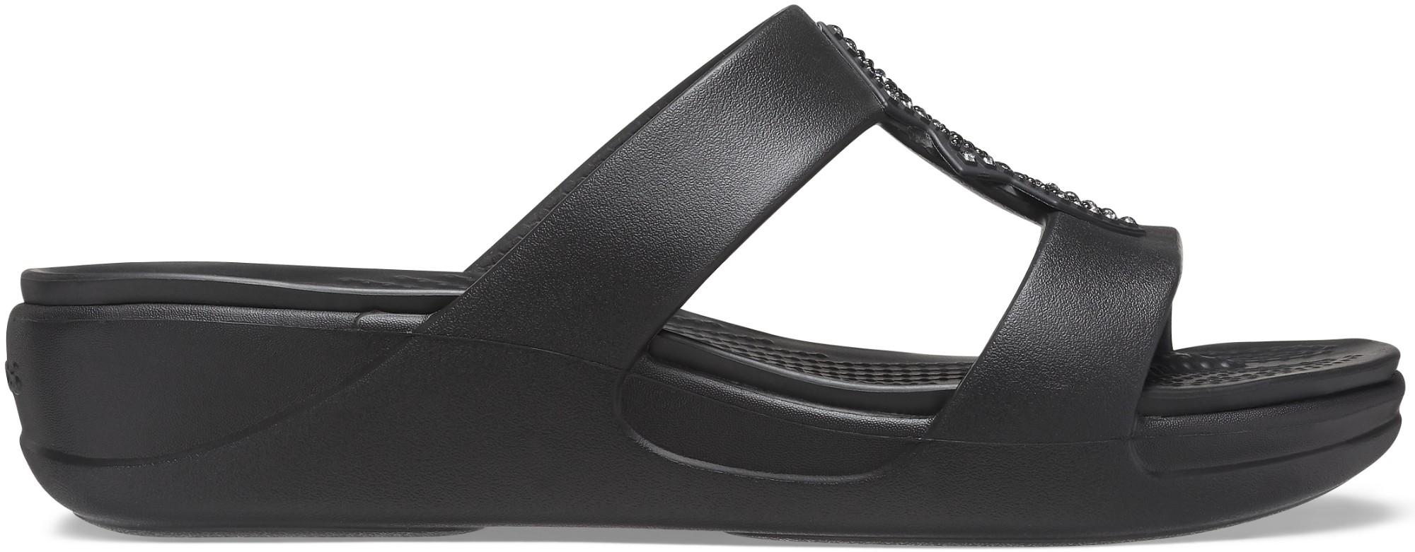 Crocs™ Monterey Shimmer Slip-On Wedge Black 41