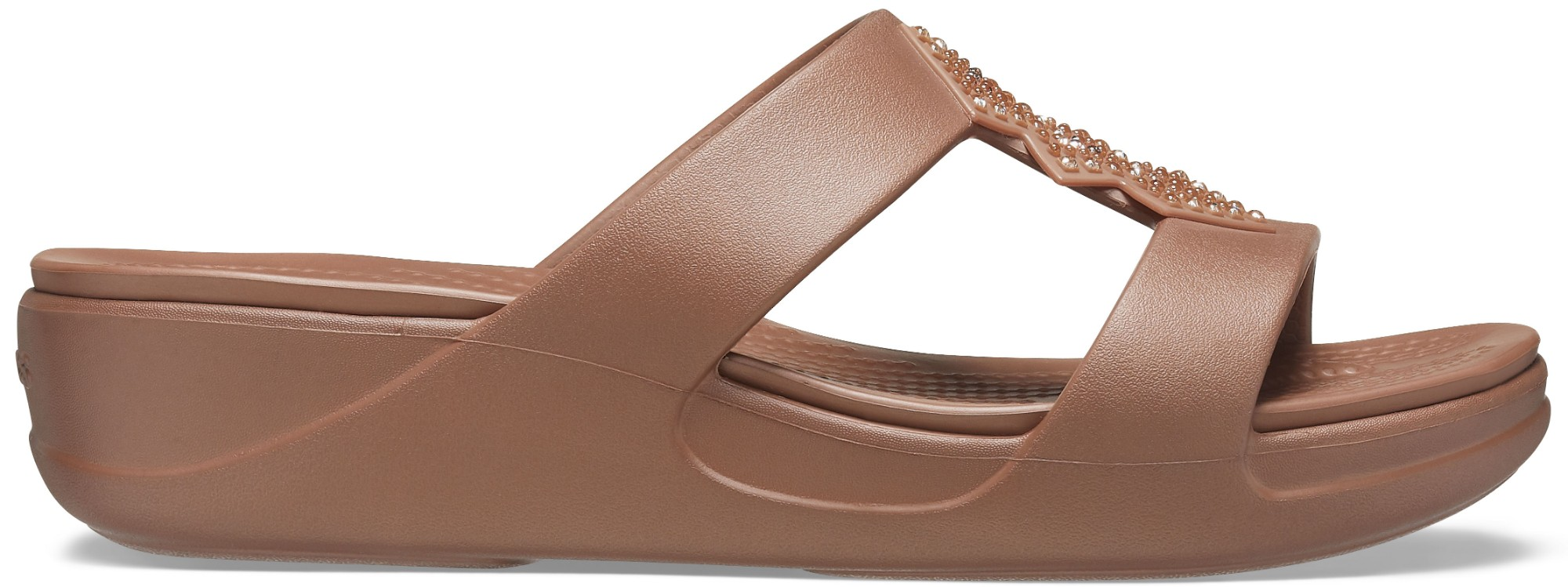 Crocs™ Monterey Shimmer Slip-On Wedge Bronze 36,5
