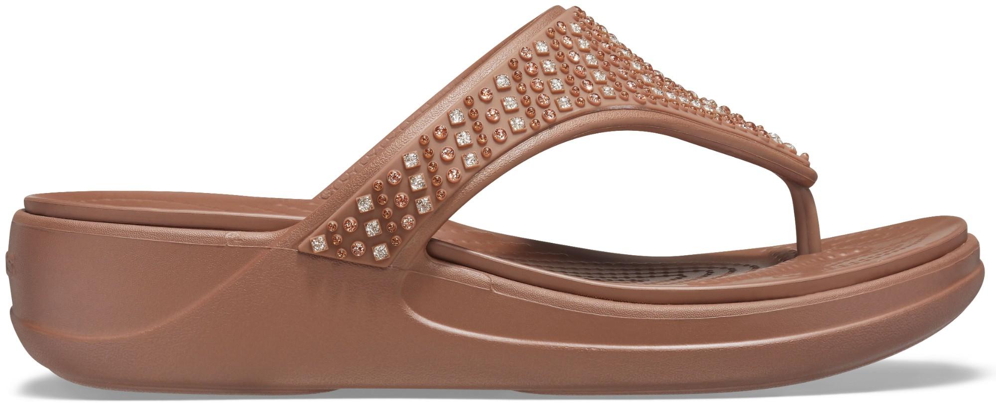 Crocs™ Monterey Shimmer Wedge Flip Bronze 39,5