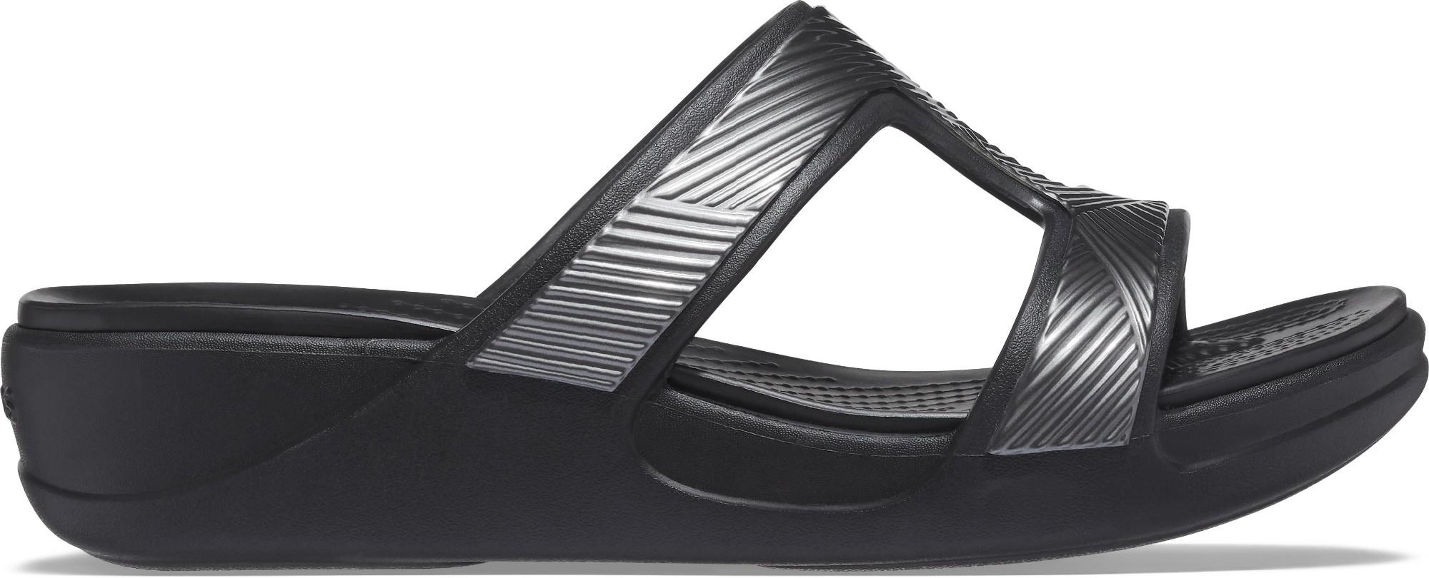 Crocs™ Monterey Metallic Slip-On Wedge Black 41