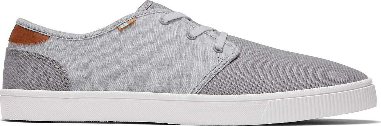 TOMS Canvas Slub Chambray Men's Carlo Sneaker Grey 45